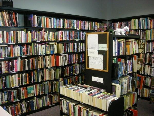 Interior of the Friends Bookshop