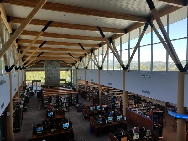 The interior of the Rancho Bernardo Library