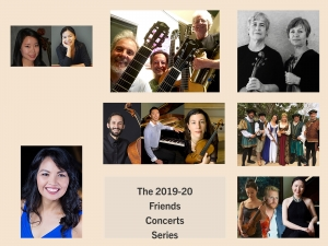 Collage of performers in the  Friends 2019-20 Concert Season
